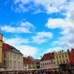 中世の都市。エストニア国タリン(Tallinn, Estonia)