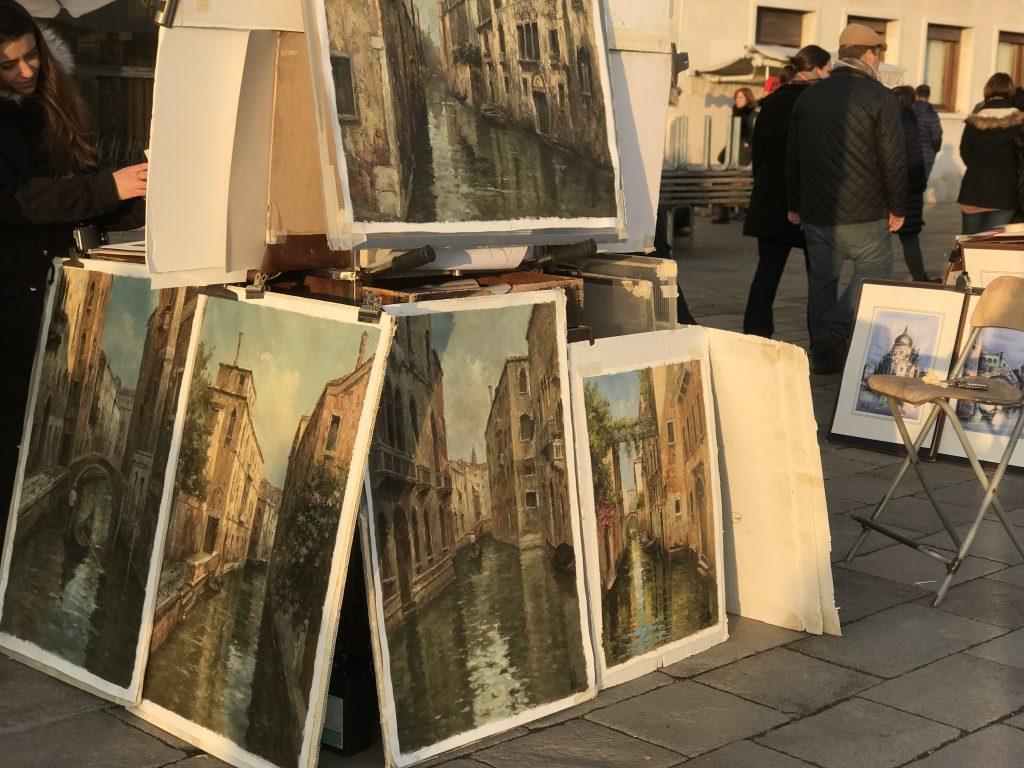 サンマルコ広場ベネチア絵画