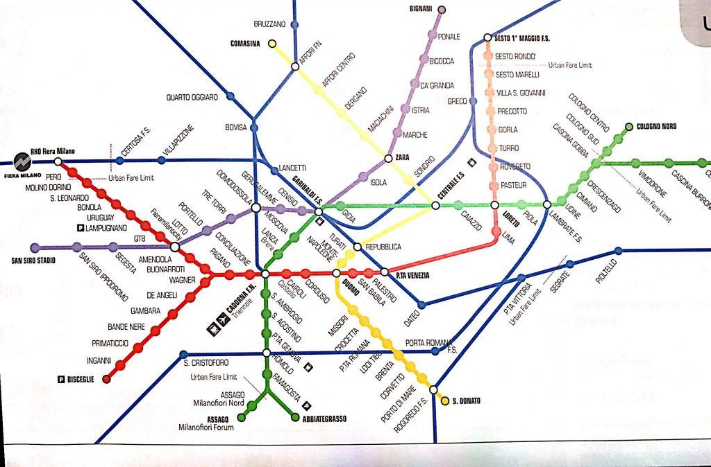 ミラノ地下鉄マップ