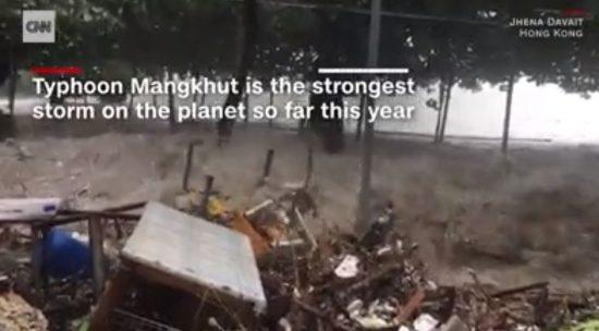 香港台風MANGKHUT(マンクット)台風22号2018年